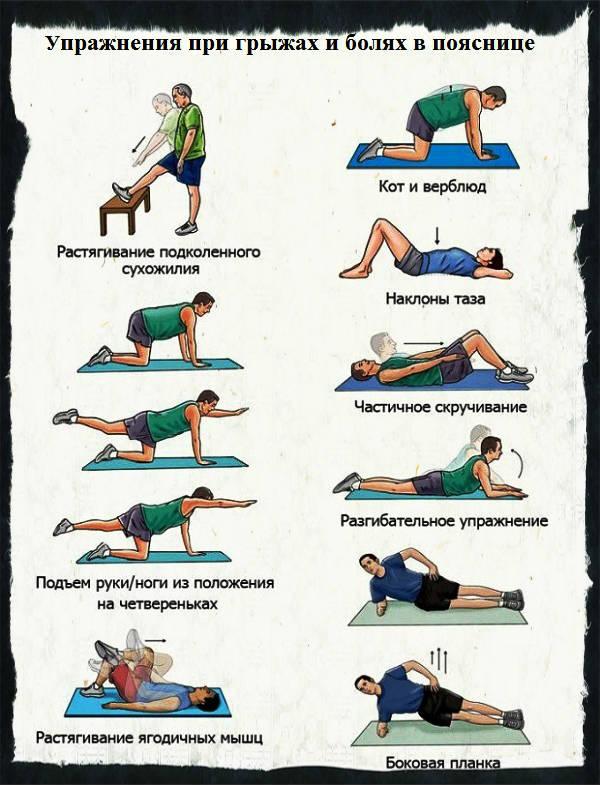 Упражнения для нижнего отдела позвоночника видео